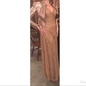 Dresses & Skirts - Gold Sequined Beaded Dress